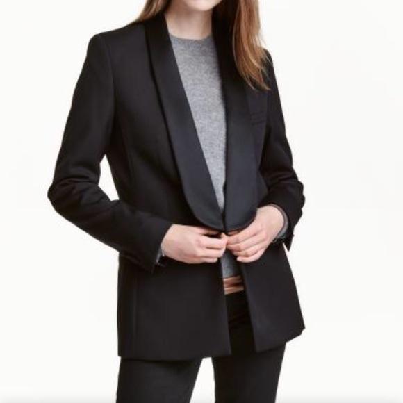 h&m jackets & coats | black tuxedo blazer | poshmark